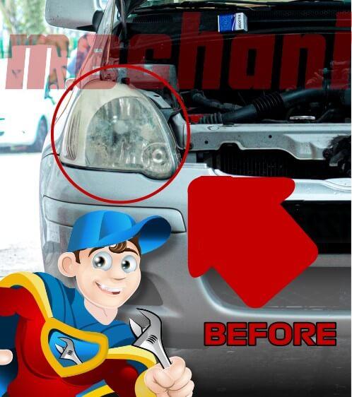 headlights restoration before